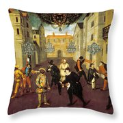 France: Comedy, 1670 Throw Pillow