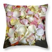 France Flower Petals, Still-life Throw Pillow