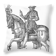 France: Officer, 1572 Throw Pillow