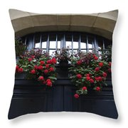 France, Paris, Flower Bouquet Hanging Throw Pillow