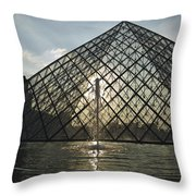 France, Paris The Louvre Museum Throw Pillow
