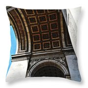 France Triumph Monument Throw Pillow