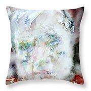 Francis Bacon - Watercolor Portrait.2 Throw Pillow