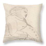 Francis Grose Asleep In A Chair Throw Pillow