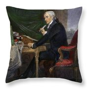Francis Hopkinson Throw Pillow
