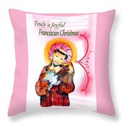 Franciscan Greeting Card Throw Pillow