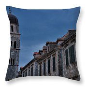 Franciscan Monastery Tower - Dubrovnik Throw Pillow