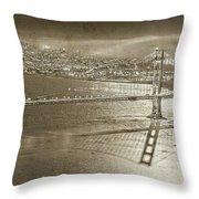 Francisco Sky Line Vintage  Throw Pillow