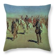 Francisco Vasquez De Coronado Making His Way Across New Mexico Throw Pillow