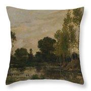 Francois Daubigny   Alders Throw Pillow