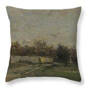 Francois Daubigny   The Garden Wall Throw Pillow