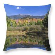 Franconia Autumn Reflections Throw Pillow