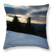 Franconia Notch State Park - Lincoln New Hampshire Usa Throw Pillow