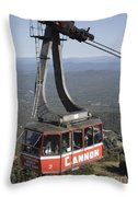 Franconia Notch State Park New Hampshire - Aerial Tramway Throw Pillow