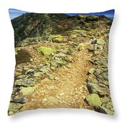 Franconia Ridge Alpine Trail Throw Pillow
