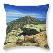 Franconia Ridge And Mount Lafayette Alpine Throw Pillow