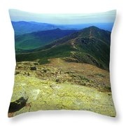 Franconia Ridge Trail Throw Pillow