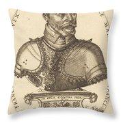 Francoys De Scepeaulx Throw Pillow