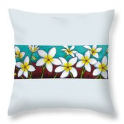 Frangipani Delight Throw Pillow
