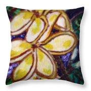Frangipani In The Tropics  Series 1 Throw Pillow