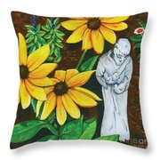 Frank And Susan Throw Pillow by Laura Brightwood