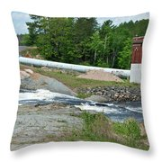 Frank J Russell Falls Throw Pillow