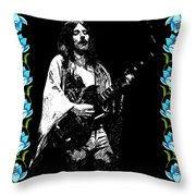 Frank Marino Of Mahogany Rush 4-14-78 Throw Pillow
