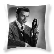 Frank Sinatra At  Nbc Radio Station 1941 Throw Pillow