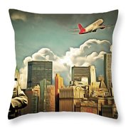 Frank Sinatra Fly Me To The Moon New York 20170506 V3 Throw Pillow