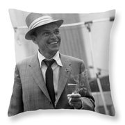 Frank Sinatra In Studio  Throw Pillow