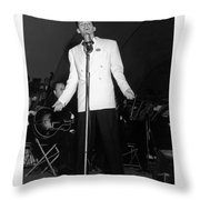 Frank Sinatra  Live On Stage 1939 Throw Pillow