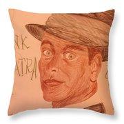 Frank Sinatra - The Voice Throw Pillow
