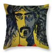 Frank Zappa Throw Pillow