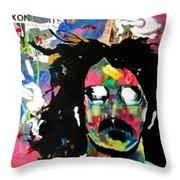 Frank Zappa Pop Art Throw Pillow