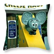 Frankenmuth Cheese Haus Mouse  Throw Pillow