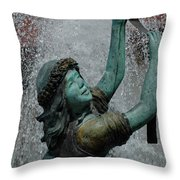 Frankenmuth Fountain Girl Throw Pillow