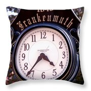 Frankenmuth Time Throw Pillow