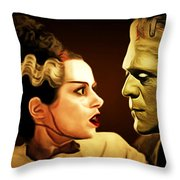 Frankenstein And The Bride I Have Love In Me The Likes Of Which You Can Scarcely Imagine 20170407 Throw Pillow