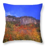 Frankenstein Cliffs Crawford Notch Throw Pillow