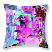Frankenstein In Abstract Cubism 20170407 Square Throw Pillow