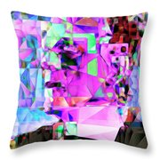 Frankenstein In Abstract Cubism 20170407 Throw Pillow