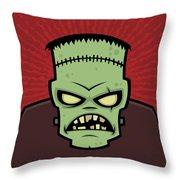 Frankenstein Monster Throw Pillow by John Schwegel
