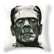 Frankenstein Portrait Throw Pillow