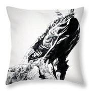 Frankenstein Vs. The Wolfman Throw Pillow