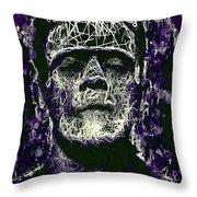 Frankenstein Throw Pillow by Al Matra