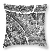 Frankfurt Am Main, 1628 Throw Pillow