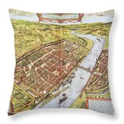 Frankfurt, Germany, 1572 Throw Pillow