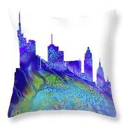 Frankfurt Skyline 3 Throw Pillow