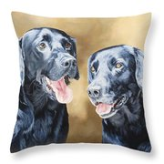 Frankie And Ross Throw Pillow