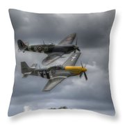 Frankie And Spitfire Throw Pillow
